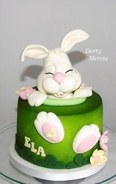 Výsledek obrázku pro dort zajíček