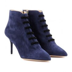 Charlotte Olympia Helga Suede Boots ($1,093) found on Polyvore