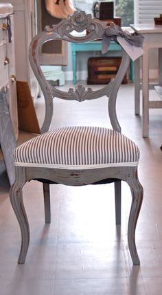 hmmm...maybe I should paint my dinning room chairs instead of staining them?
