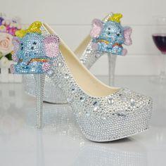 Pearl Diamond Rhinestone Crystal Pumps High Heels Shoes Female Handmade Wedding Bride Shoes 5    https://www.lacekingdom.com/   Lace Kingdom: Everything You Need for #Weddings & Events