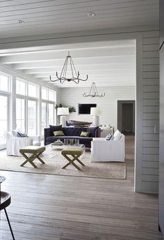 Clean, modern farmhouse living room