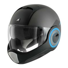 Shark Vantime Helmet - Ozz Black Mat / Anthracite / Blue | Full Face Motorcycle Helmets | FREE UK delivery - The Cafe Racer