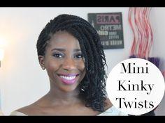 HOW TO GET MINI KINKY TWISTS | AdannaDavid - YouTube