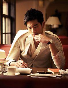 Godfrey Gao 高以翔 for GQ (Taiwan) March 2013 Cover Gq, Godfrey Gao, Mode Man, Hot Asian Men, Comme Des Garcons, Sharp Dressed Man, Actors, Gentleman Style, True Gentleman
