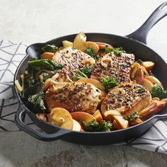 12 Best Side Dishes for Pork Chops - 15 Boneless Pork Chop Recipes for Quick Dinners - Apple Pork Chops, Pork Loin Chops, Boneless Pork Chops, Pork Roast, Pork Rub, Pork Chop Recipes, Meat Recipes, Cooking Recipes, Entree Recipes
