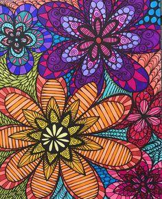 ColorIt Colorful Flowers Volume 1 Colorist Jackie Foote Adultcoloring Coloringforadults