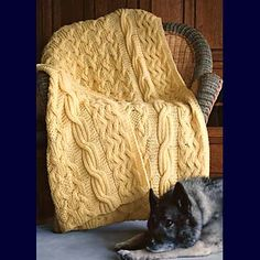 Fiber Trends Pattern Patterns - Reversibly Cabled Afghan Pattern - Large Photo at Jimmy Beans Wool Crochet Afghans, Annie's Crochet, Crochet Cable, Manta Crochet, Crochet Crafts, Cable Knit, Crochet Needles, Afghan Crochet Patterns, Knitting Patterns