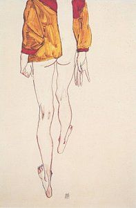 View Standing Semi Nude with Brown-Red Vest, back view by Egon Schiele on artnet. Browse more artworks Egon Schiele from Richard Nagy Ltd. Life Drawing, Figure Drawing, Drawing Sketches, Painting & Drawing, Art Drawings, Drawing Hands, Gustav Klimt, Art Moderne, Art Graphique