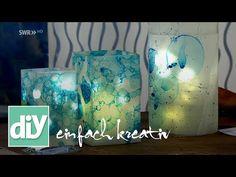Windlichter mit Seifenblasen-Design   DIY einfach kreativ - YouTube