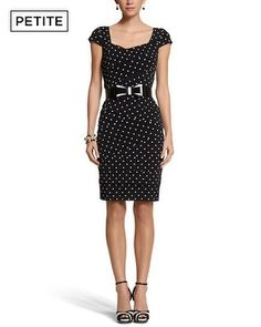 White House | Black Market Petite Instantly Slimming Dot Tiered Dress ❤ Love this! Want