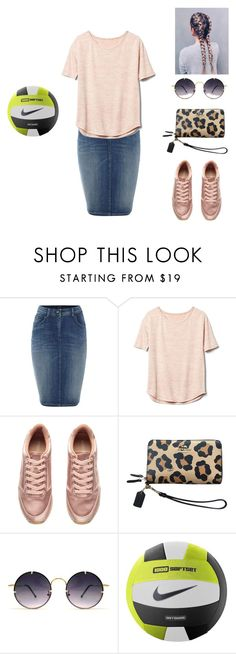 """""""Volleyball 🏐"""" by modestly-chicstyle ❤ liked on Polyvore featuring Armani Jeans, Gap, H&M, Coach, Spitfire and NIKE"""