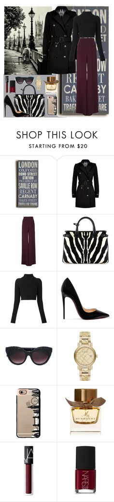 """Untitled #113"" by mariapvl ❤ liked on Polyvore featuring Home Decorators Collection, Burberry, ADAM, Balmain, Christian Louboutin, Kuboraum, Casetify and NARS Cosmetics"