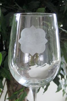 Quatrefoil Etched Wine Glasses set of 2 by lizkingdesigns on Etsy, $16.50 Getting this if I get married for the reception!
