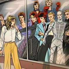 rock Art by David Bowie Labyrinth, David Bowie Art, Labyrinth Movie, David Bowie Fashion, Mick Ronson, Goblin King, Major Tom, Real Model, Ziggy Stardust