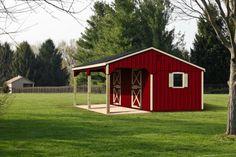 Horse Shelter, Horse Stables, Small Horse Barns, Shed Builders, Mini Barn, Mini Horse Barn, Barn Stalls, Horse Barn Plans, Barn Kits
