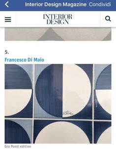 #fdmcersaie2016 #fdm2016 #cersaie2016 #ceramicafrancescodemaio #gioponti #bluponti #blutiles #handmadeinitaly #Cersaie #ceramicavietrese #design