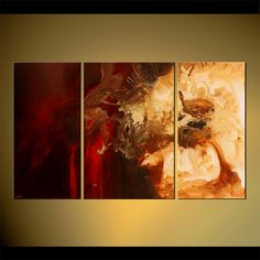 """Modern 60"""" x 36""""  Red Abstract Painting Original Contemporary Abstract Art Signed by Osnat - MADE-TO-ORDER"""