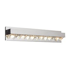 6 Light Vanity Crysto Collection shown in Polished Chrome by PLC Lighting - 18166