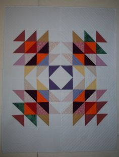 raffle quilt for Alpine Quilters, machine quilted, October 2017