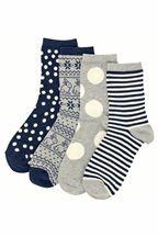 Navy Rabbit Socks Four Pack from next