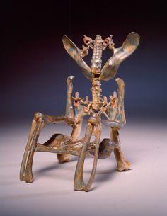 Eugene von Bruenchenhein (American, 1910 – 1983) | Untitled (Chicken bone throne) | 1960's | Chicken bones, glue, and paint | Gift of Lewis and Jean Greenblatt | 1998.100