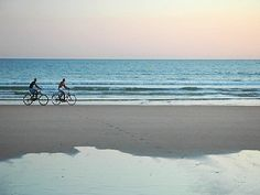 Nothing better than cycling on the beach.