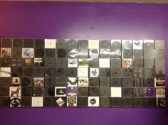On our creative reuse idea wall we have created frames with CD cases. We will continue to fill the CD cases with pictures for inspiration.   UpCycleCRC.org Check us out!