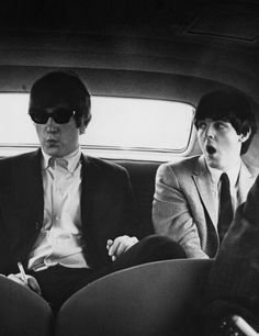 Rare Beatles | black & white | photography | ride | suits | cool | rockstars | vintage | old photo | amazing