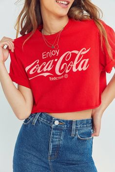 Slide View: 1: Junk Food Coca-Cola Cropped Tee