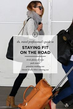 The Traveling Professional's Guide to Staying Fit on the Road #theeverygirl