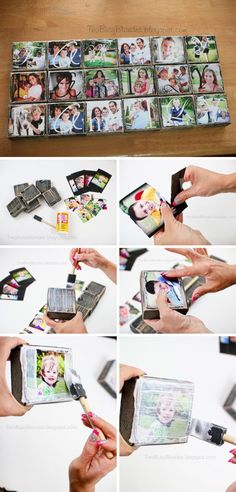 DIY Photo Blocks.