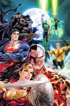 "#Justice #League #Fan #Art. (Justice League. ""Rebirth"" Variant #1 Cover) By: Tyler Kirkham. (THE * 5 * STÅR * ÅWARD * OF: * AW YEAH, IT'S MAJOR ÅWESOMENESS!!!™)[THANK U 4 PINNING!!!<·><]<©>ÅÅÅ+(OB4E)    https://s-media-cache-ak0.pinimg.com/564x/35/97/27/359727c4c120cbd56b283d0c0fbfb031.jpg"