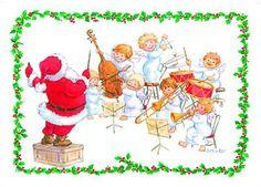 Buy piano santa christmas card music stationery greeting cards buy santas cherub band christmas cards music stationery greeting cards christmas cards m4hsunfo