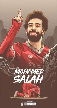 Mohamed Salah piłkarzem Liverpoolu w wersji rysunkowej Liverpool Team, Camisa Liverpool, Football Player Drawing, Soccer Drawing, Cr7 Messi, Neymar Jr, Best Football Players, Football Art, Handball