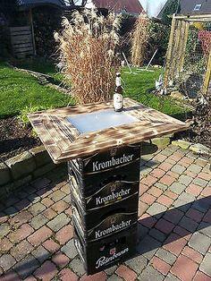 Stehtisch / Beistelltisch / Bierkasten Aufsteck Tisch