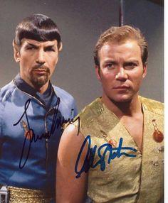 Leonard Nimoy William Shatner Star Trek Spock 8x10 Signed Autograph Photo Auto   eBay