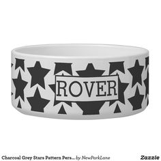Black And White Style, Pet Bowls, Large Animals, Black Star, Pet Names, Star Patterns, Pet Gifts, Ceramic Bowls, Keep It Cleaner