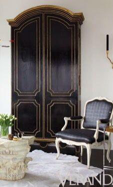 Living Space . Armoire . Black and Gold . Veranda . f