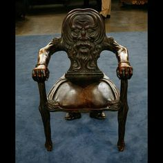 Mahogany Green Man Chair, ca. 1890 on Antiques Roadshow. Oh, how I love this chair.