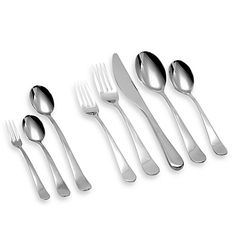 Gourmet Settings Windermere Flatware Collection Modern design defined by rounded handles, the Gourmet Settings Windermere Flatware Collection is crafted of durable 18/10 stainless steel. The smooth curves of these open stock pieces exude contemporary elegance that makes a truly memorable wedding gift.