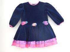Size 3T Vintage Jo Lene Toddler Girl Blue velvet by LittleMarin,