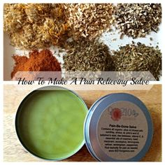 Pain Relieving Salve Very good recipe.  I like the mix of infused herbs and essential oils