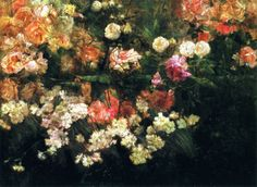 Garden In May -Maria Oakey Dewing (1845 – 1927)