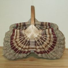 Hand Woven Egg Basket with Oak Handle Natural in different colors