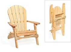 Amish Outdoor Pine Adirondack Chair Folding With Optional Ottoman