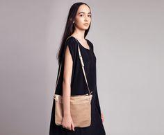 Leather Tote Bag, Oversize Genuine Leather Clutch in Beige, Minimalist Shoulder Bag - Dean Bag on Etsy, $151.00