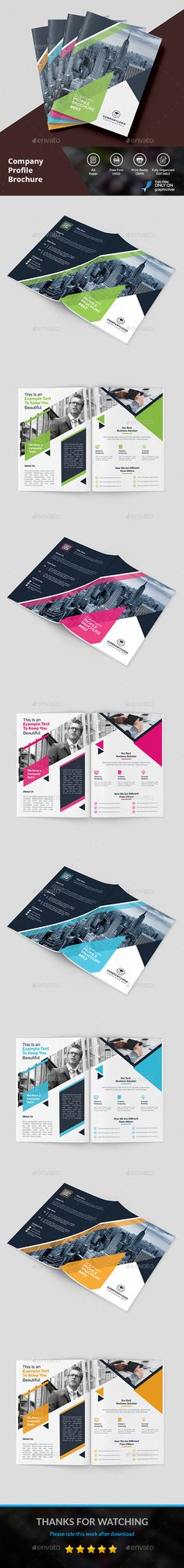 Profile Brochure - #Brochures Print #Templates Download here: https://graphicriver.net/item/profile-brochure/19343826?ref=alena994
