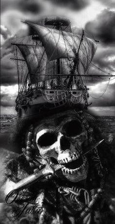 skull caravels tattoo black and grey #caravel #skull #tattoo #blackandgrey #blackandgreytattoo #cavareltattoo #overall #overalltattoo #studiooveralltattoo