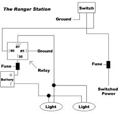 4 pin relay wiring diagram horn