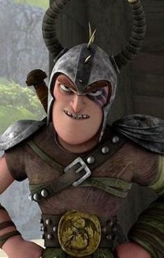 """Dagur the Deranged voiced by David Faustino. First appeared in Cartoon Network's 2012 series """"Dragons: Riders of Berk."""""""